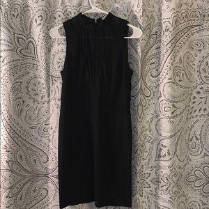 Blush ciel black body con high neck dress